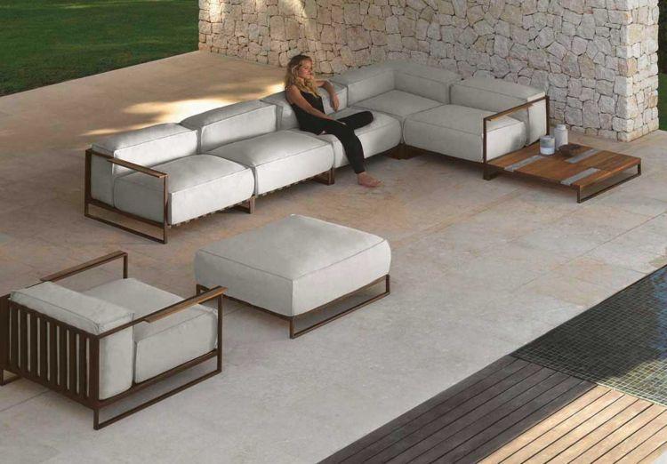 loungemoebel im garten holz sitzgruppe Terrasse Pinterest Nice