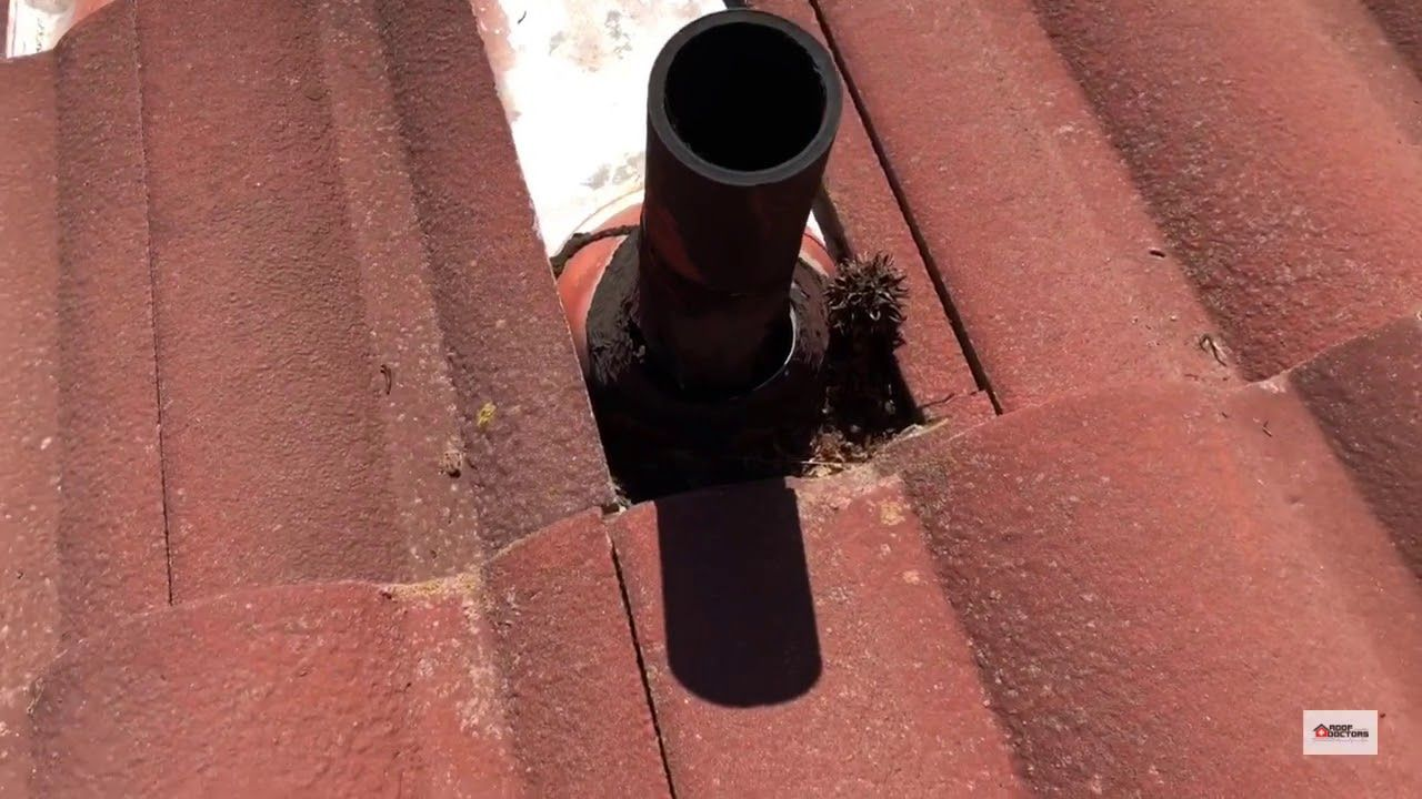 This Older Concrete Tile Roof Had A Few High Risk Areas That Were Not Properly Installed Or Maintained Watch Our Video To Find Concrete Tiles Roof Repair Roof