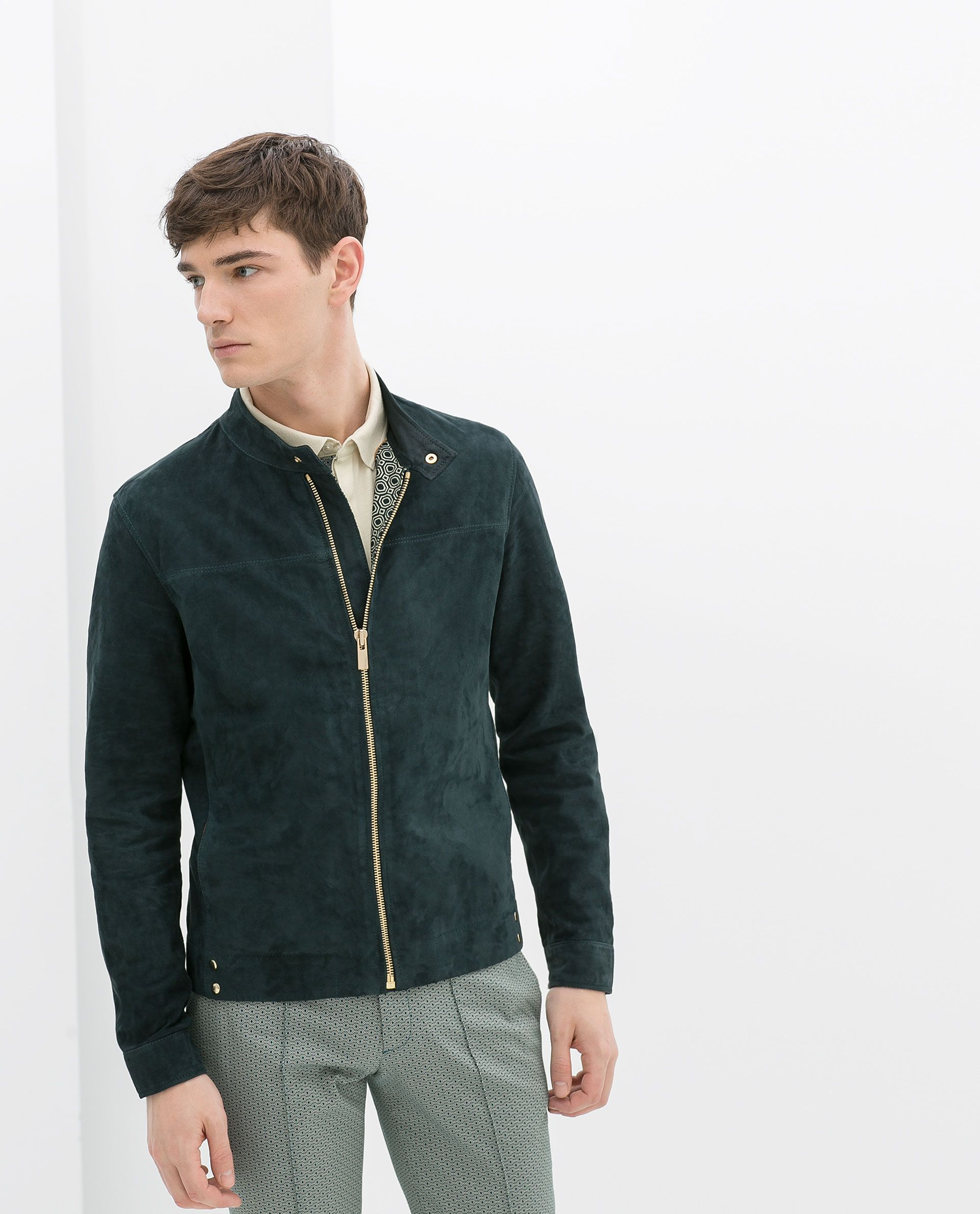 0c3a0d43 ZARA - MAN - SUEDE JACKET | sartorialism | Suede jacket, Zara ...