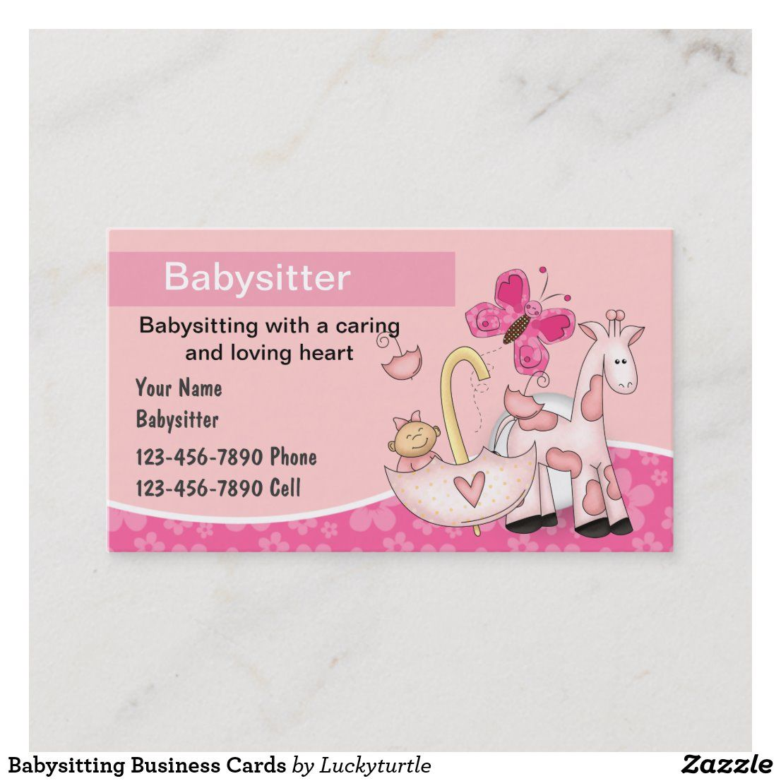 Babysitting Business Cards Zazzle Com Business For Kids Business Cards Childcare Business Cards