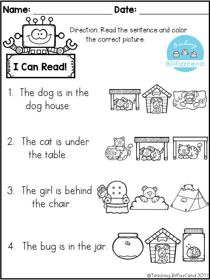 Free Reading Comprehension Check Kindergarten Literacy Reading