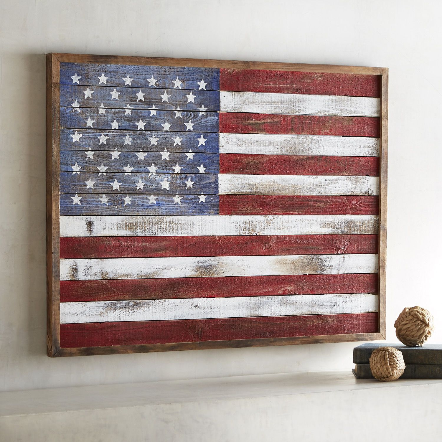 Shiplap American Flag Wall Decor