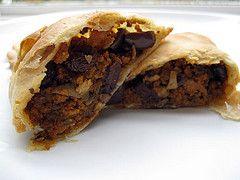 Shredded Seitan and Mushroom Empanadas with Raisins and Olives by eatme_delicious, via Flickr