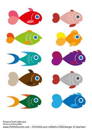 10 poissons d 39 avril imprimer pour enfants c 39 est l 39 activit phare du 1er avril voici des - Poisson a decouper ...