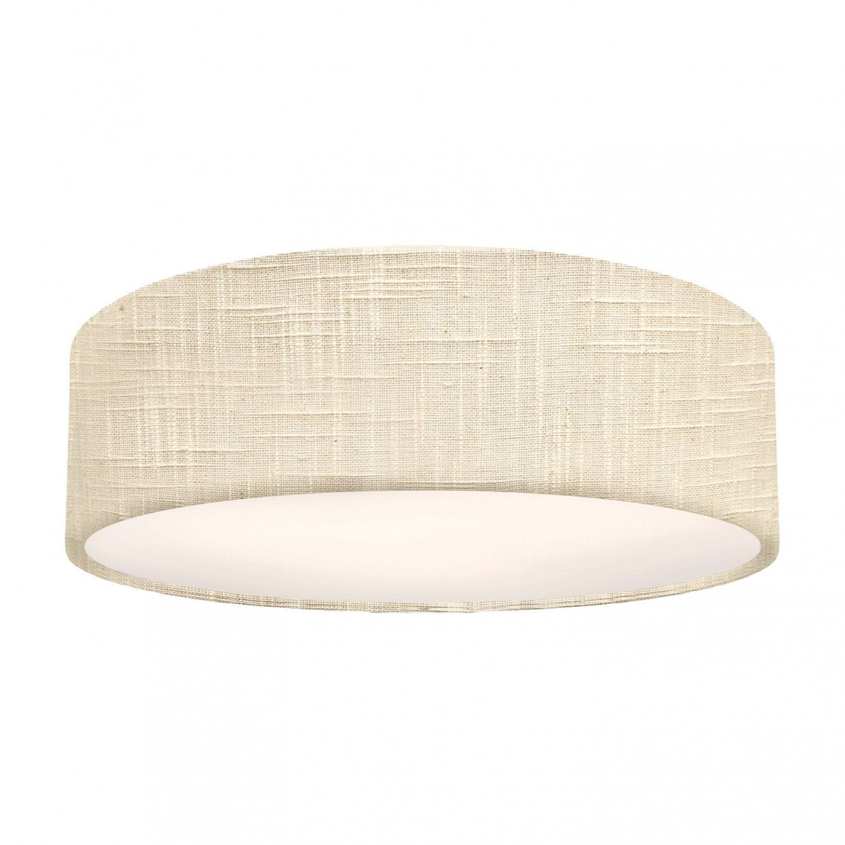 Ø39 Textile Lamp Cream Lampenhaus Flush ceiling