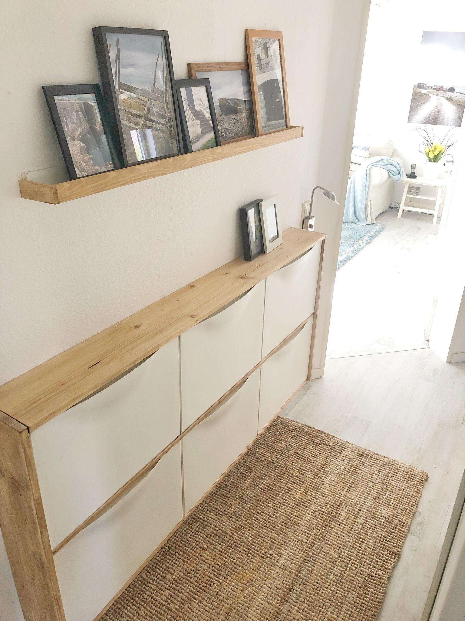 Flur Ideen: Lass dich in der Community inspirieren! #decorationentree Ikea Trones und Bilderleiste aufgepimpt  #meinikea#couchstyle#flur#myhome#solebich
