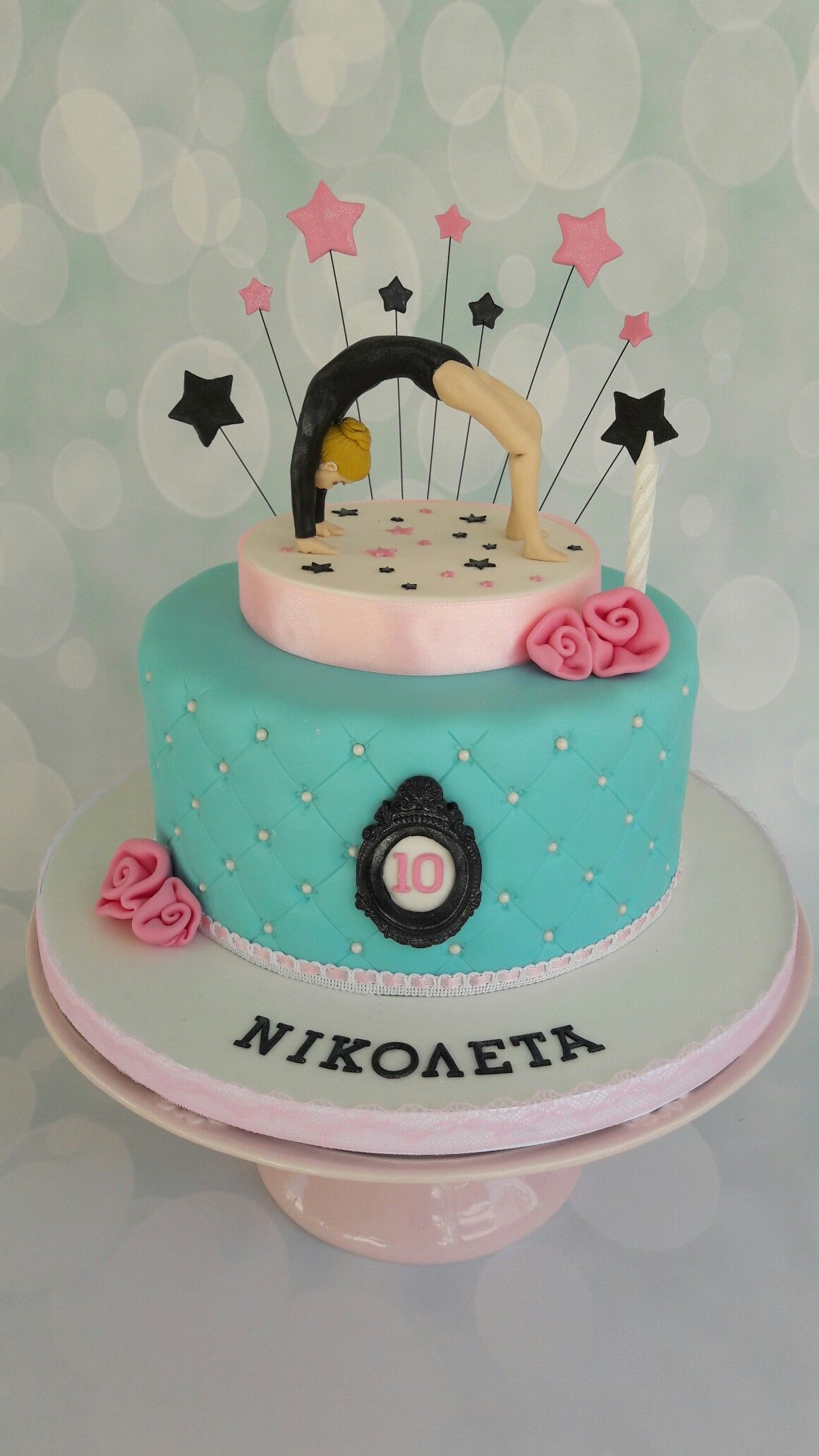 Rythmic gymnastics cake. A girl performing a bridge. | cakes ...
