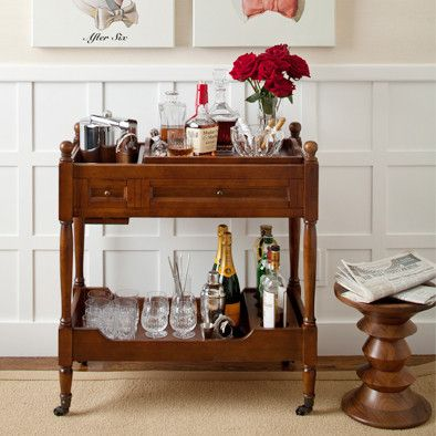 Wooden Drinks Trolley Bar Cart Wooden Bar Cart Bar Cart Decor Bar Cart Styling