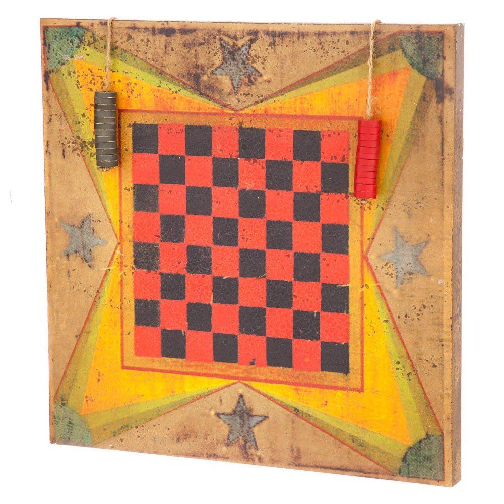 this checkerboard wall art can be used for decoration or can