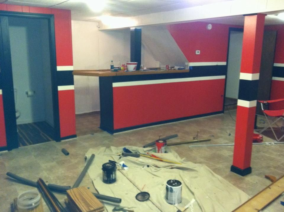 The Man Cave Sports Bar Reno : The start to a devil s man cave your devils den