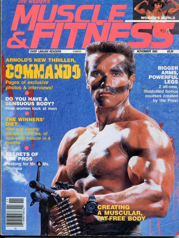 muscle \ fitness- nov 1985- arnold u0027commandou0027 vintage bodybuilding - new arnold blueprint app