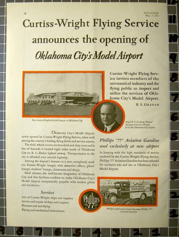 Flying service in the 1930s, OKC.
