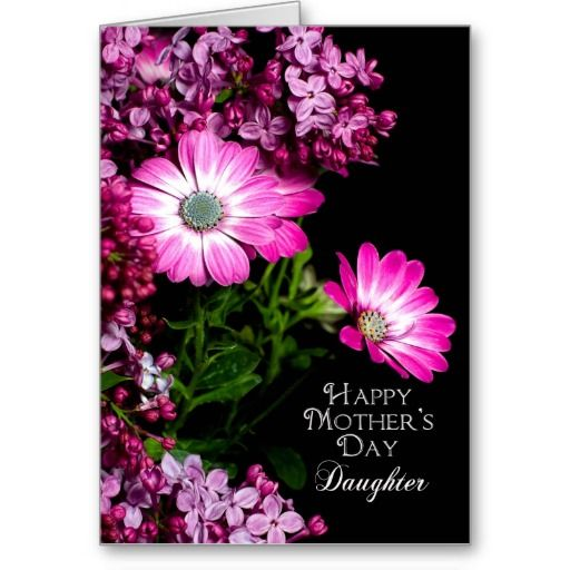 Mother's Day Cards for Daughters | Mother's Day - Daughter - Fuchsia Flowers Greeting Cards