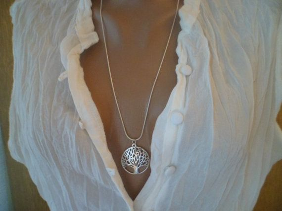 925 Silver Tree of Life Necklace. by 777SunShineJewelry on Etsy