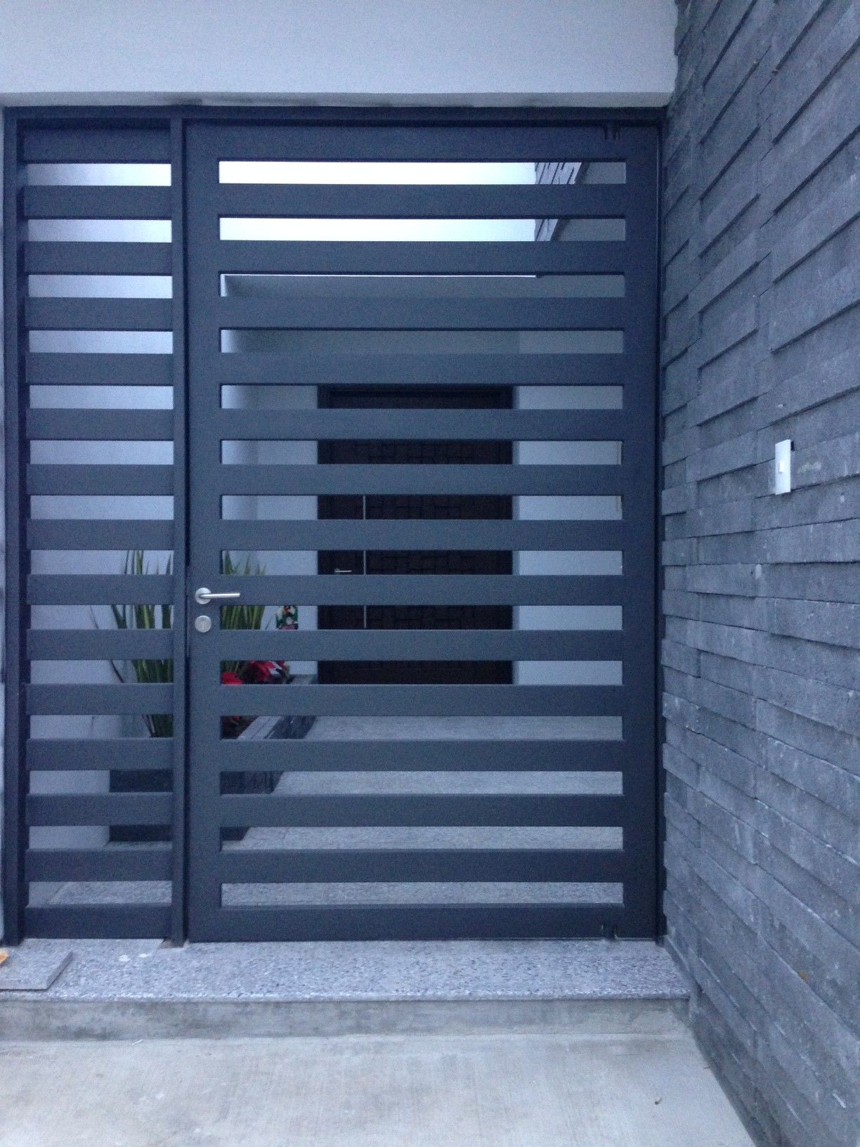 Custom Wrought Iron Gate that keeps strangers away and ...