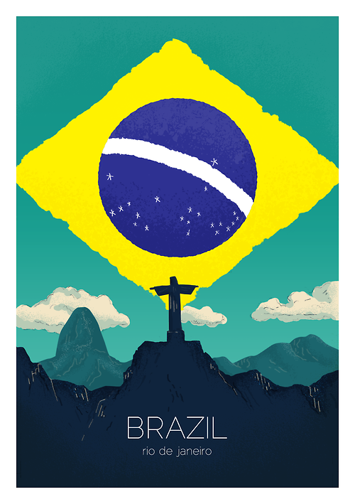 Rio De Janerio Brazil First In A Series Of Illustrated Cities