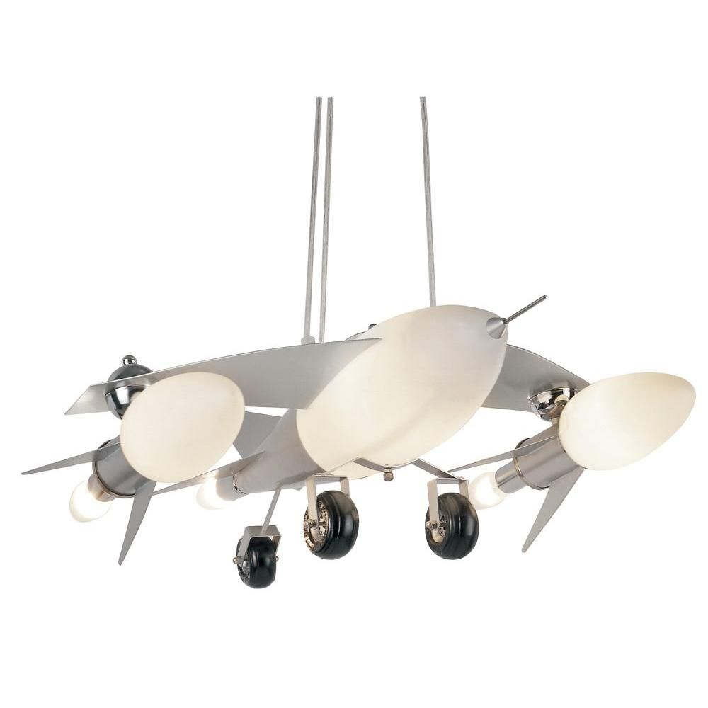This awesome jet airplane pendant light is meant for a kids room