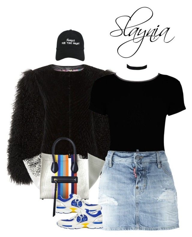 """""""Single For The Night"""" by slaynia ❤ liked on Polyvore featuring Boohoo, Dsquared2, ASOS and Nasaseasons"""