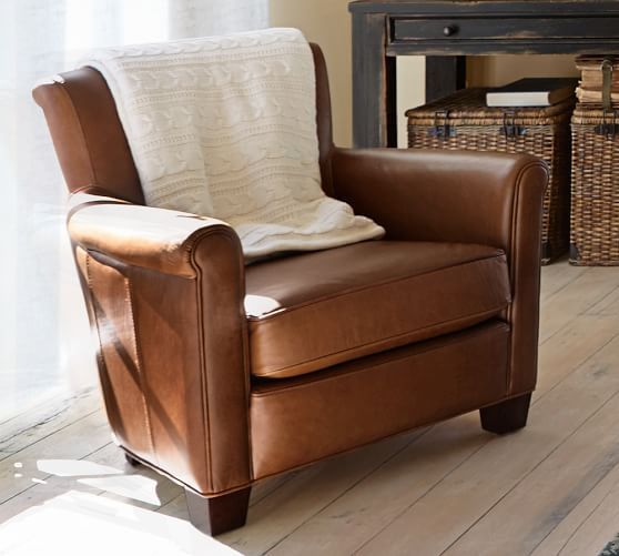 Irving Roll Arm Leather Armchair In 2020 Leather Chair Living Room Brown Leather Chairs Leather Armchair