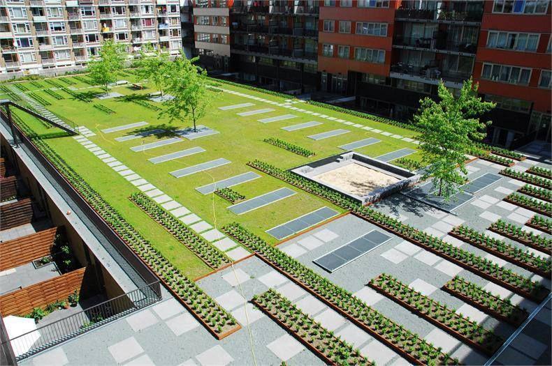 Best Amsterdam 옥상 정원 조경 조경설계 400 x 300