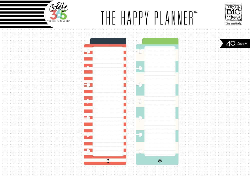 MAMBI Happy Planner Bookmark Notepads, Red & Teal