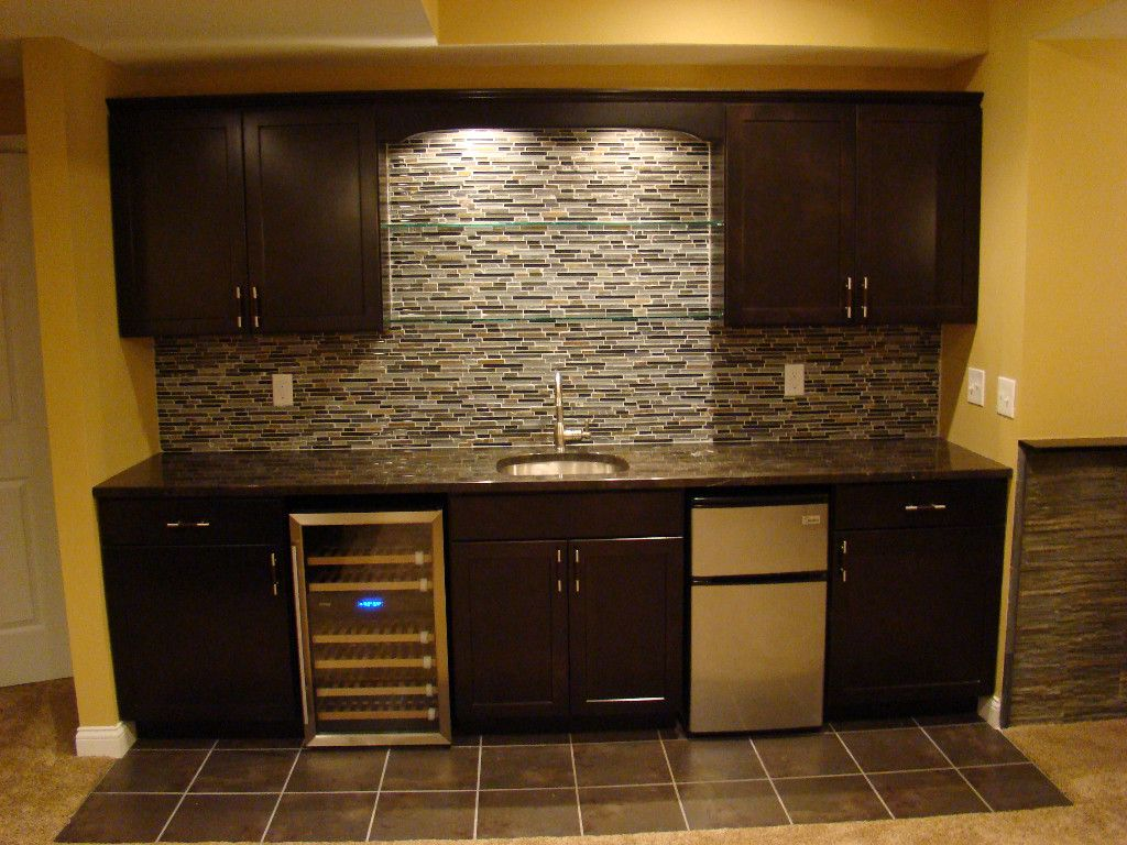 wet bar wall only fridge cabinets