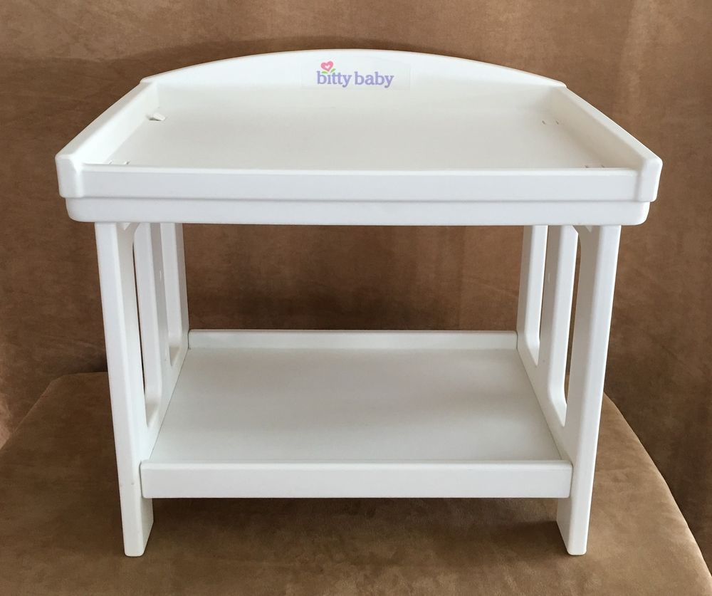 Bitty Baby Changing Table White Plastic Lightweight American Girl Doll  Twins #PleasantCompany #ClothingShoes