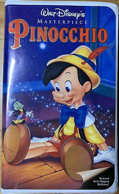 Pinocchio 1985 VHS Walt Disney 239 Puffy Clamshell 12257239034   eBay