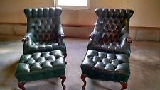 For Sale Our Pair Of Carl Forslund Rip Van Lee Sleepy Hollow Chairs Matching Ottoman Chair Leather Chair Accent Chairs