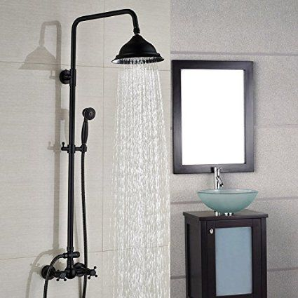 $349 BL European retro copper black bronze showerhead adjustable ...