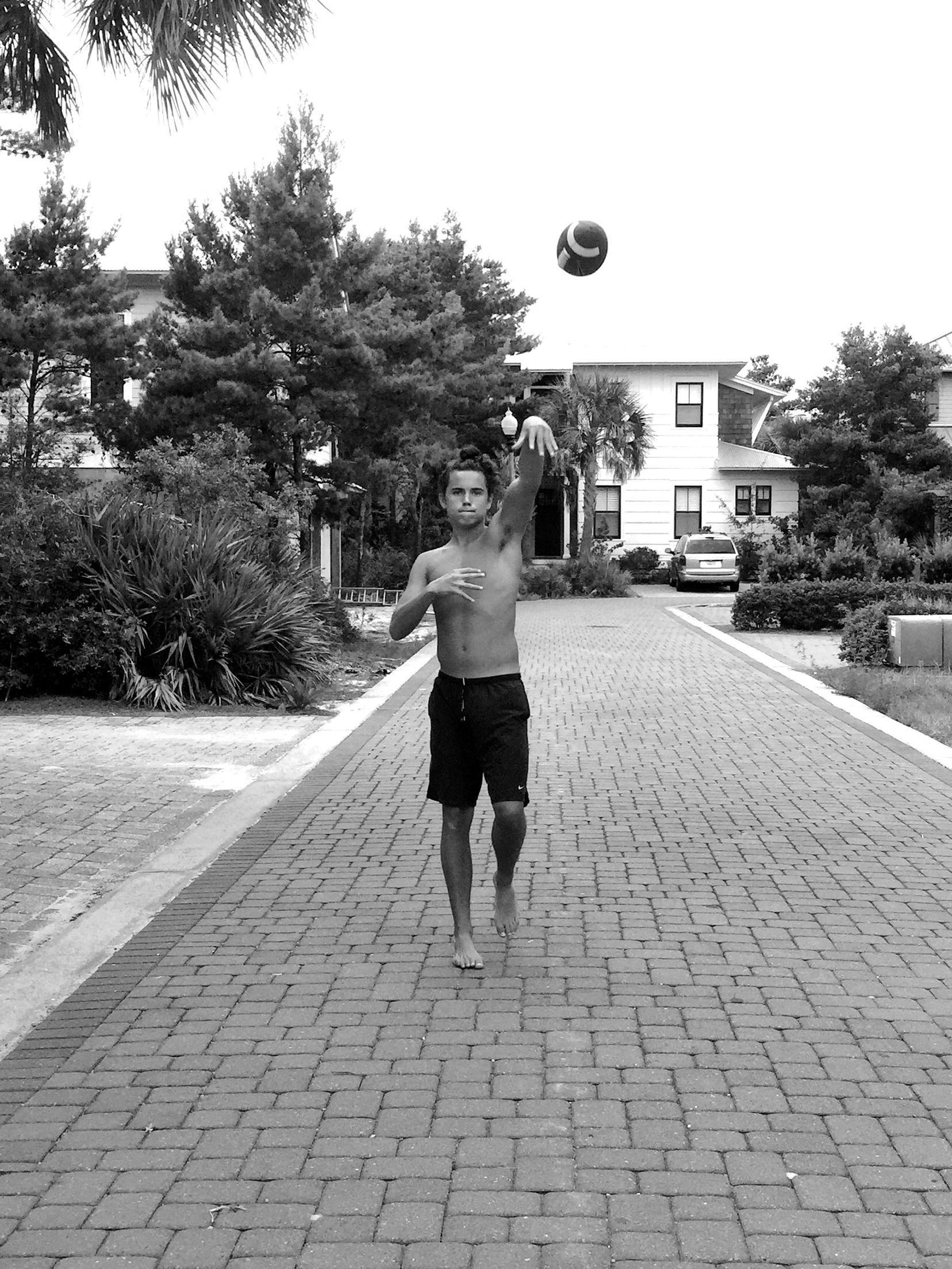 Black and white photography candid photography iphone photography athletic nike football beach house destin fl