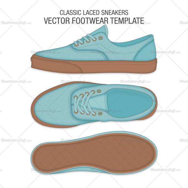 Free Fashion Flat Templates Trim Pack Sepatu