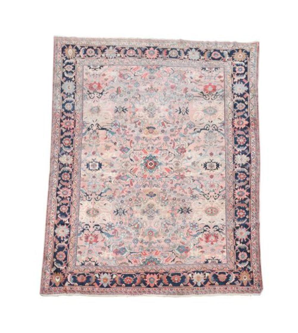 A Faded Heriz Pink Ground Persian Carpet 357 X 277cm 141 X 109in Persian Carpet Carpet Discount Carpet