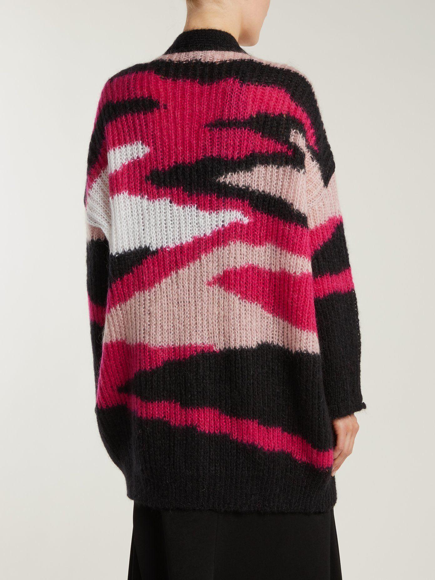 92f3c6afa32dd Tiger-stripe mohair-blend cardigan   Valentino   MATCHESFASHION.COM ...