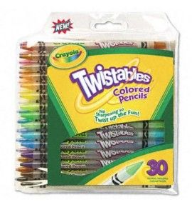 "Buy the new ""Crayola Assorted Twistable Coloured Pencils (Pack of 10)"" online today. Now in stock."
