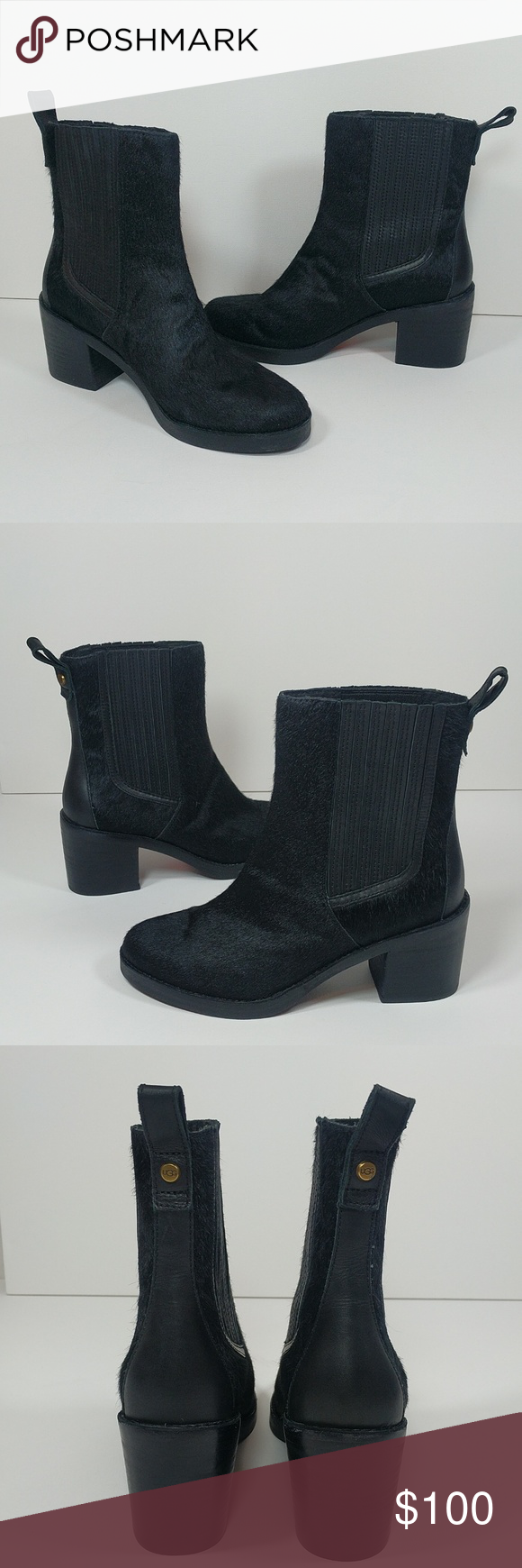 82c21ff0a65 NwT UGG genuine calf hair ankle boots w block heel Offers welcome ...
