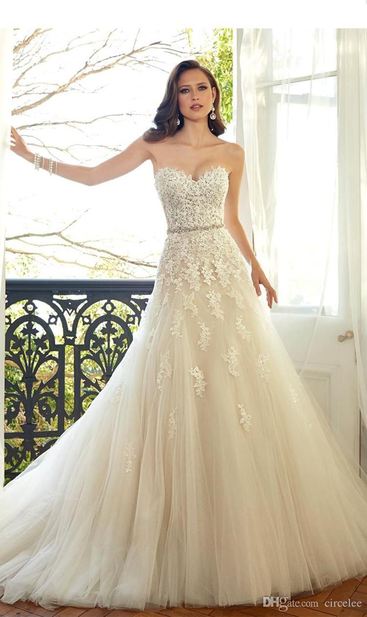 2017 Vintage Country Western Wedding Dresses Strapless Champagne ...