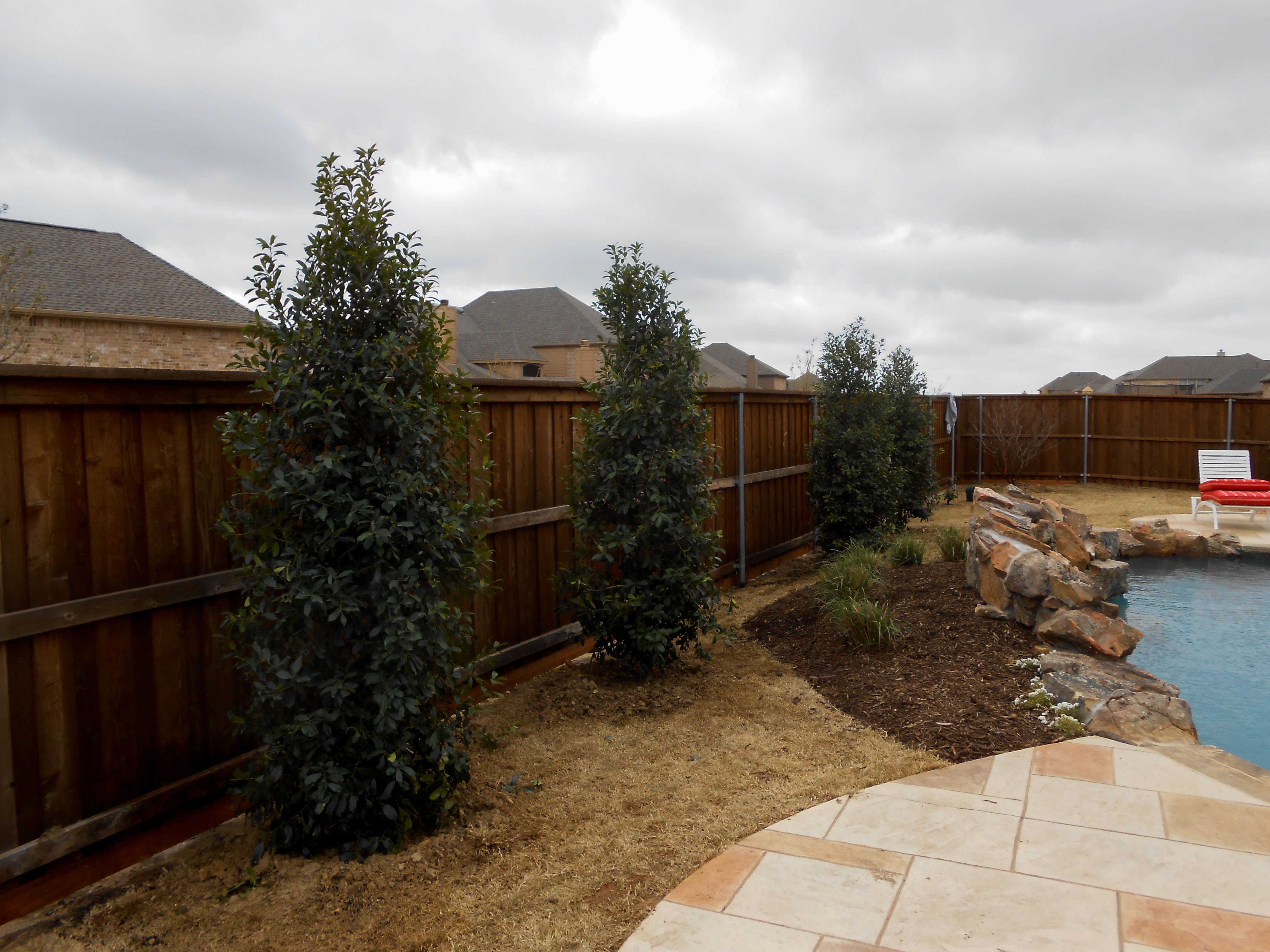 Eagleston Pool Landscaping Country Landscaping Backyard