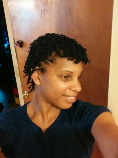 Mini twists on short natural hair