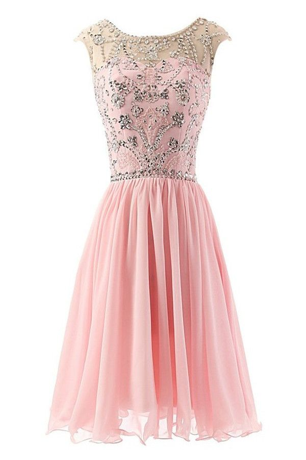 A-Line Beading Simple Homecoming Dress,Sexy Party Dress,Charming ...