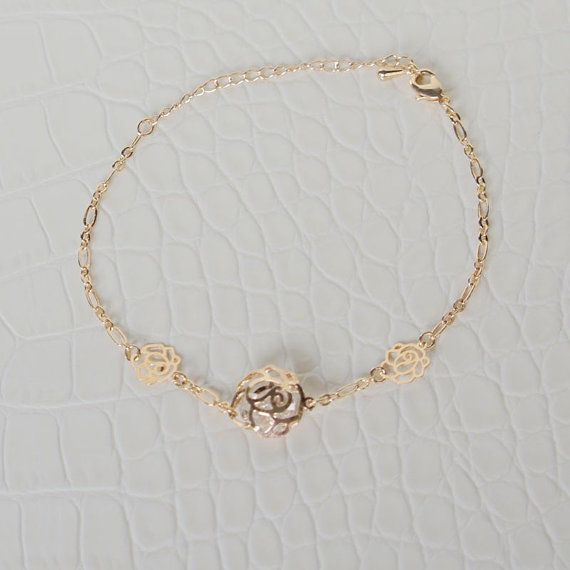 beaded dainty silver or bracelet products rose rganklet gold anklet