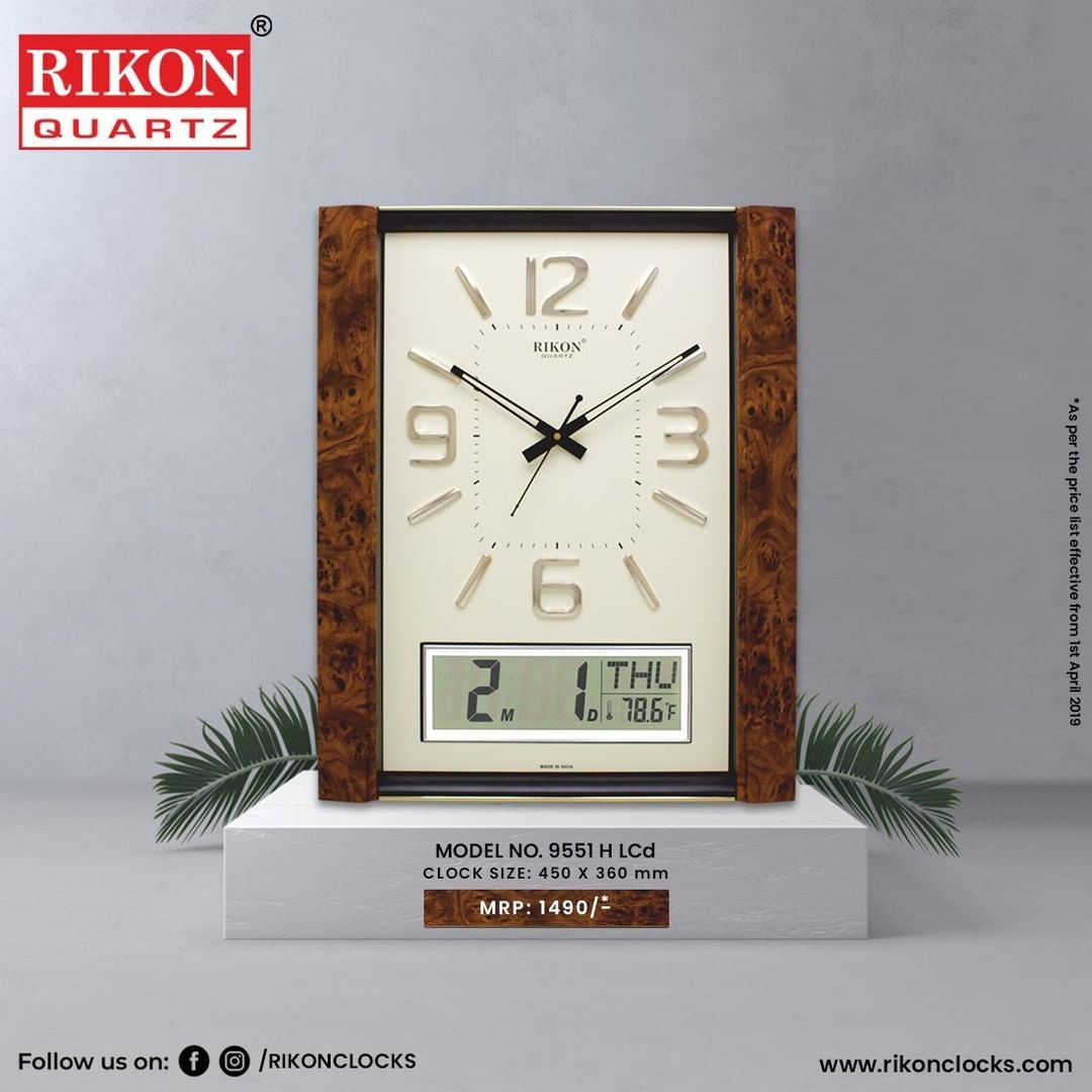 Simple Classy Simple Classy Model No 9551 H Lcd Clock Size 450 360 Mm Buy A Good Time Wo Clock Wall Clock Home Decor