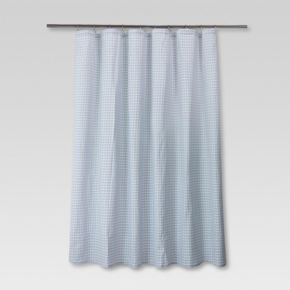 Honeycomb Shower Curtain Blue Threshold Adult Unisex Blue
