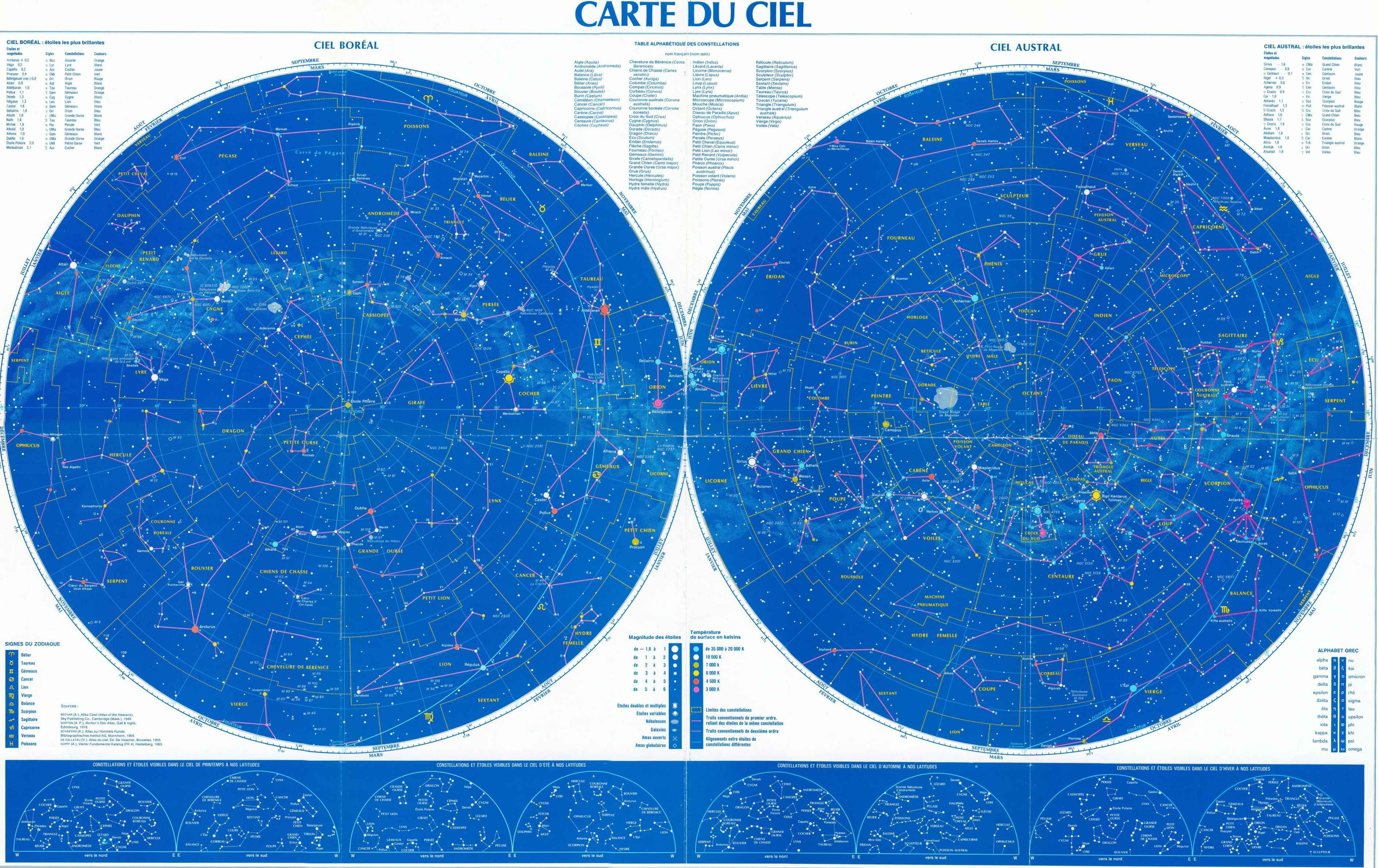 Carte Du Ciel Carte Du Ciel Constellations