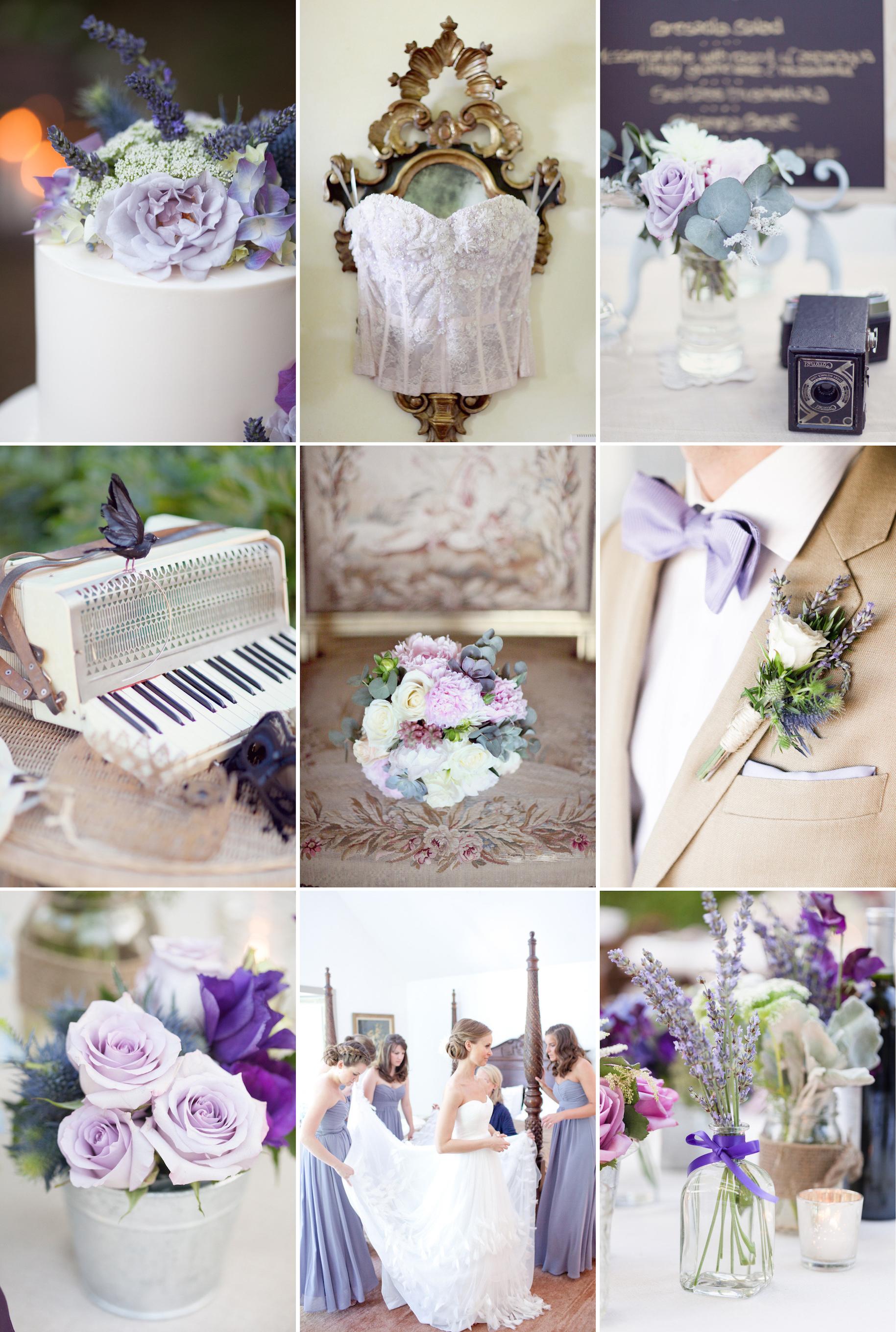 Summer wedding colors shades of purple http://nashville.wedding101 ...