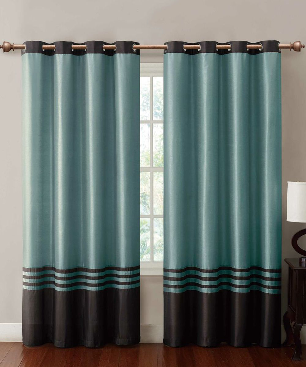 Chocolate Blue Barclay Curtain Panel Daily Deals For Moms Babies And Kids