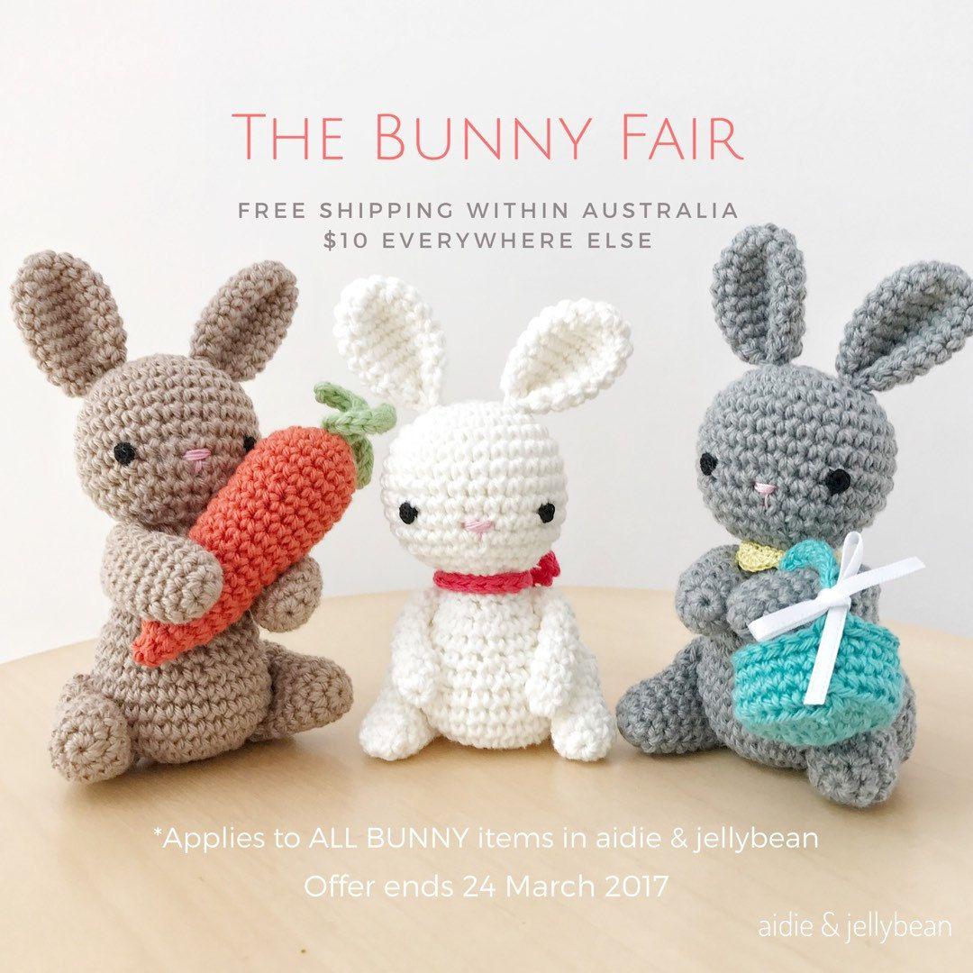 BUNNY crochet amigurumi with ribbon, crochet toy, gift for kids ...