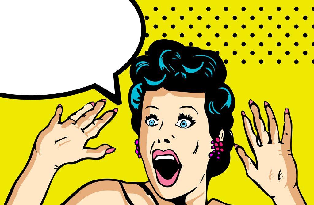 フリーイラスト素材 イラスト 人物 女性 女の人 外国人女性 驚く 吹き出し Eps Id 201502072300 Comics Love Illustration Vector Illustration