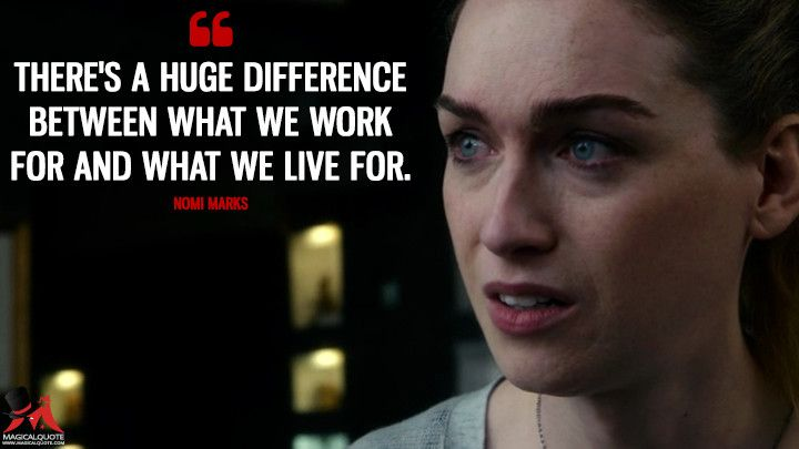 There's a huge difference between what we work for and what we live for. - MagicalQuote