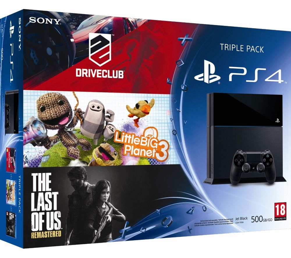 Sony computer console ps4 500 go noire consoles and sony - Console wii prix carrefour ...